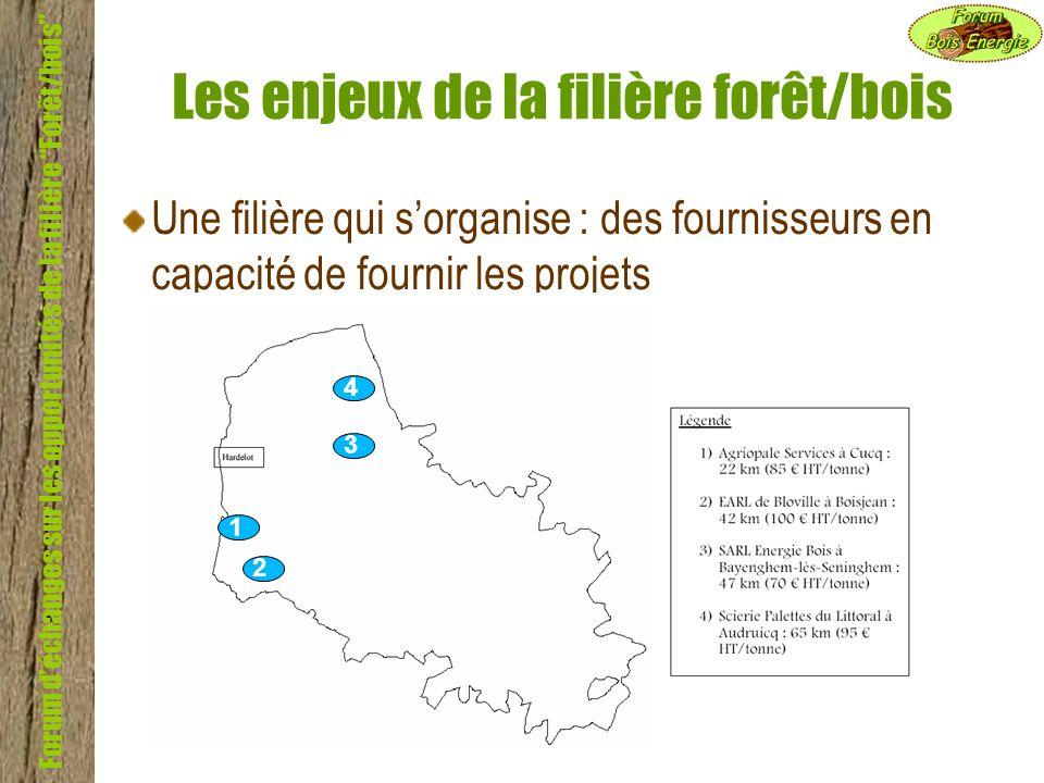 Forum déchanges sur les opportunités de la filière Forêt/bois Les enjeux de la filière forêt/bois Une filière qui sorganise : des fournisseurs en capa