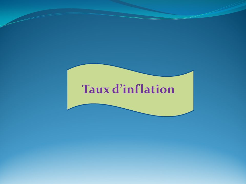 Taux dinflation
