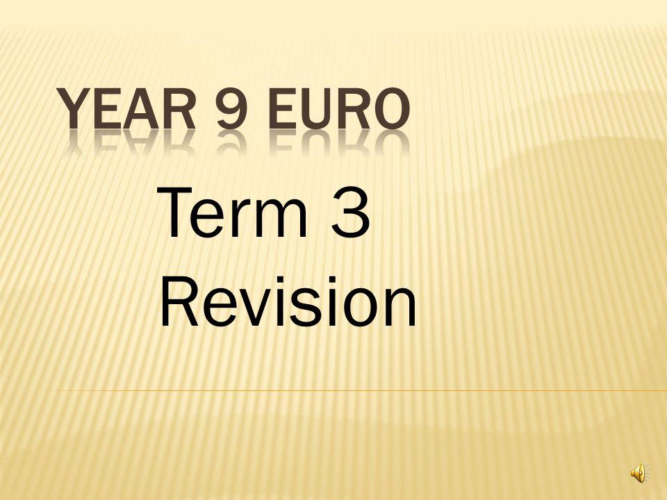 Term 3 Revision