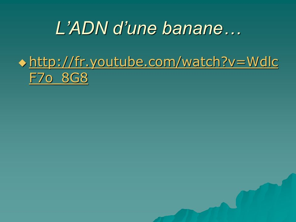 LADN dune banane… http://fr.youtube.com/watch?v=Wdlc F7o_8G8 http://fr.youtube.com/watch?v=Wdlc F7o_8G8 http://fr.youtube.com/watch?v=Wdlc F7o_8G8 htt