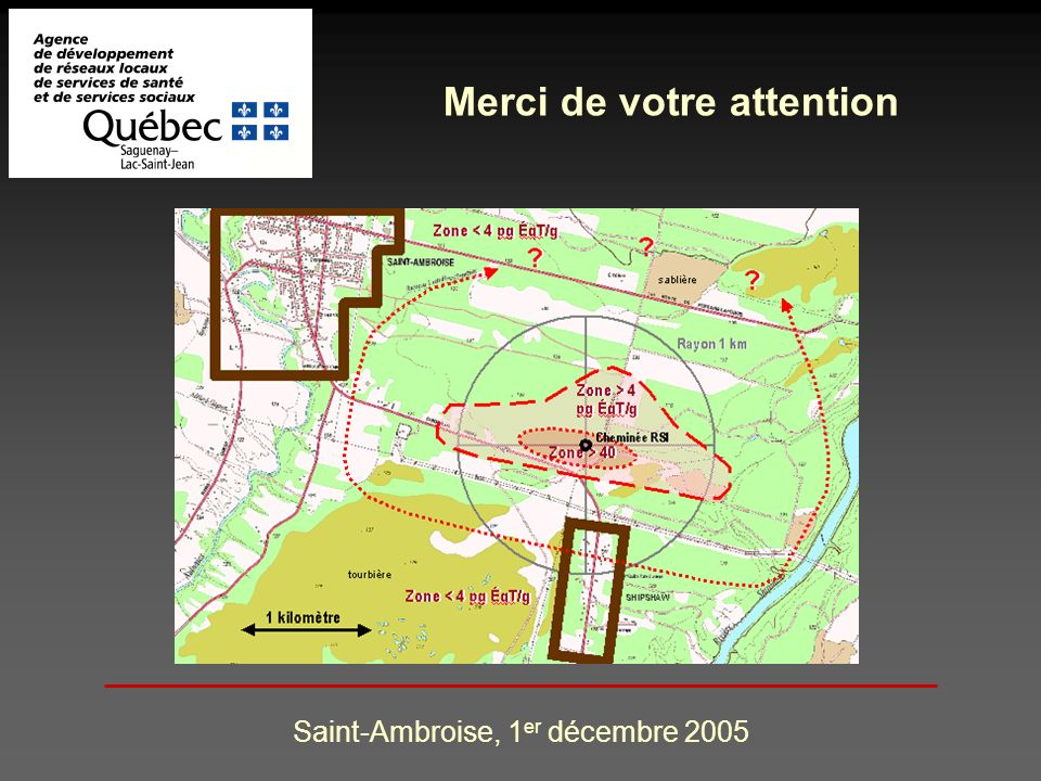 Saint-Ambroise, 1 er décembre 2005 Merci de votre attention