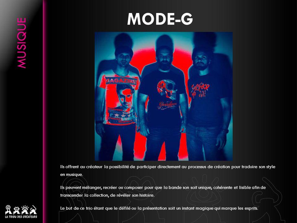MODE-G Ils offrent au créateur la possibilité de participer directement au processus de création pour traduire son style en musique.