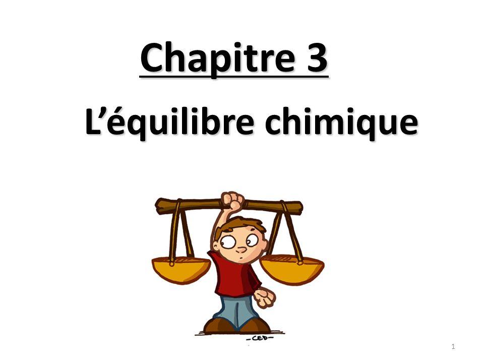 Équilibre dynamique Vitesse cristallisation = Vitesse solubilisation 2 Lien avec les premiers chapitres …