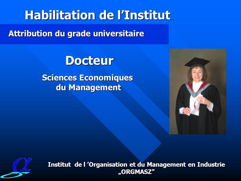 L Institut de l Organisation et du Management en Industrieest une institution leader qui est spécialisée dans les domaines de la recherche, des travau