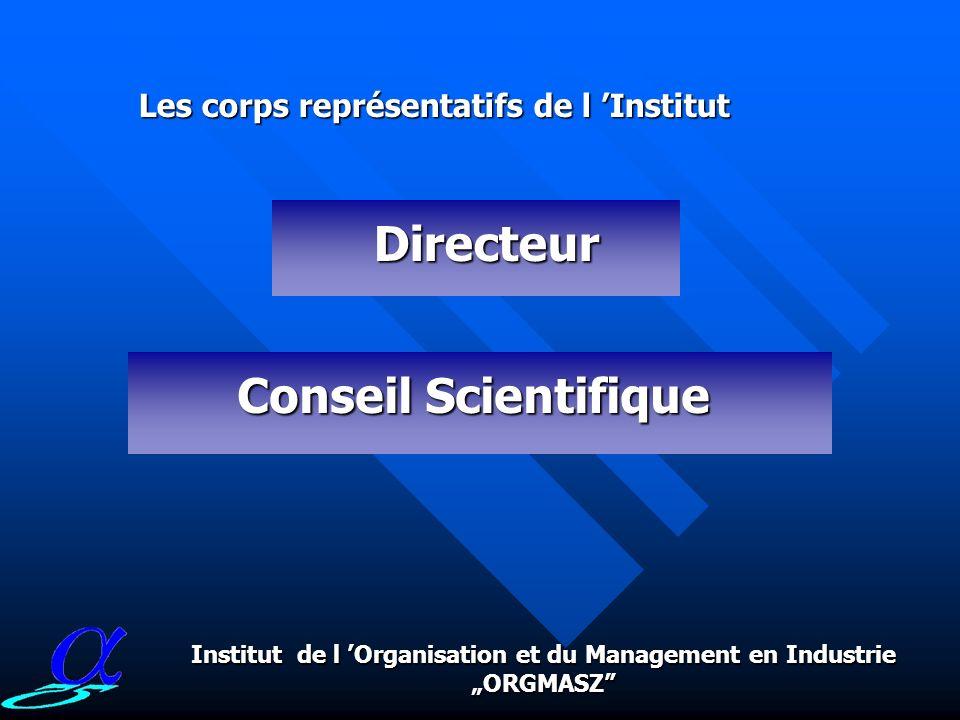 Jl y a eu également Jl y a eu également 6 diplomes décernés 6 diplomes décernésconcernant le grade universitaire de Professeur dEtat Institut de l Organisation et du Management en Industrie ORGMASZ