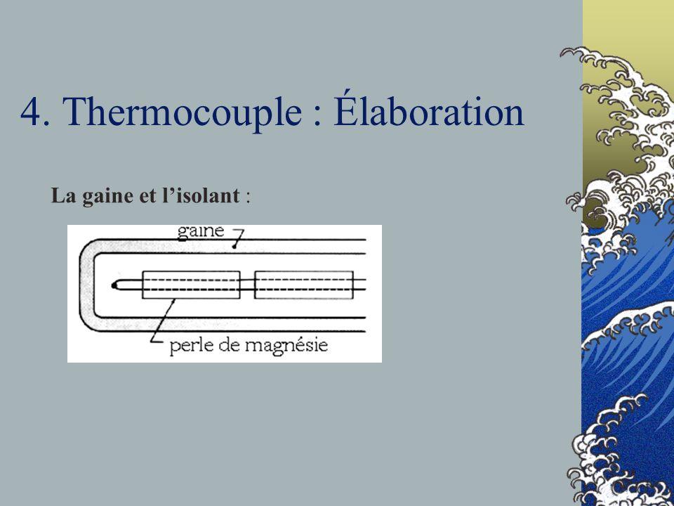 4. Thermocouple : Élaboration La gaine et lisolant :