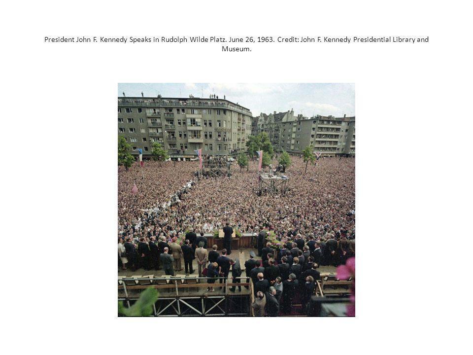President John F.Kennedy Speaks in Rudolph Wilde Platz.