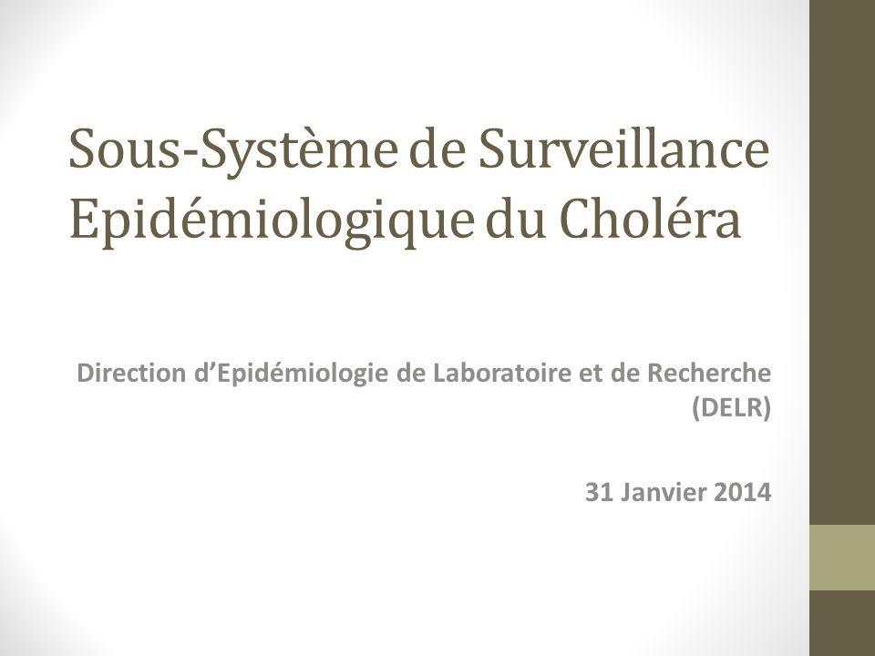 Sous-Système de Surveillance Epidémiologique du Choléra Direction dEpidémiologie de Laboratoire et de Recherche (DELR) 31 Janvier 2014