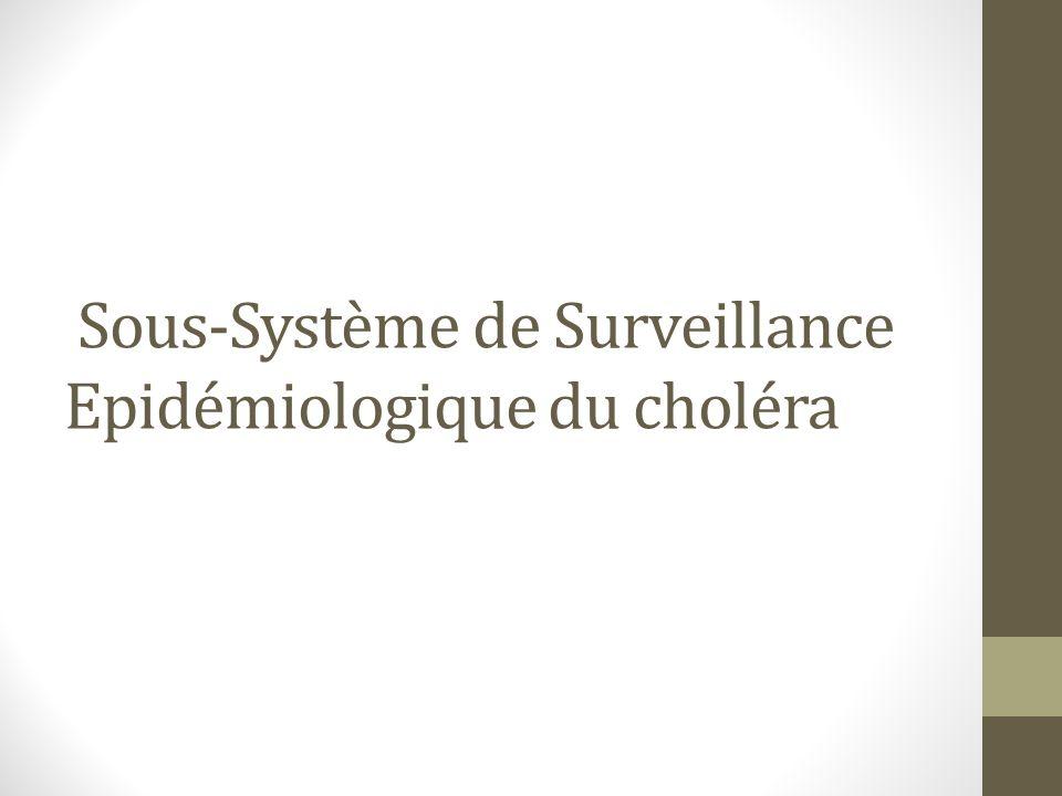 Sous-Système de Surveillance Epidémiologique du choléra