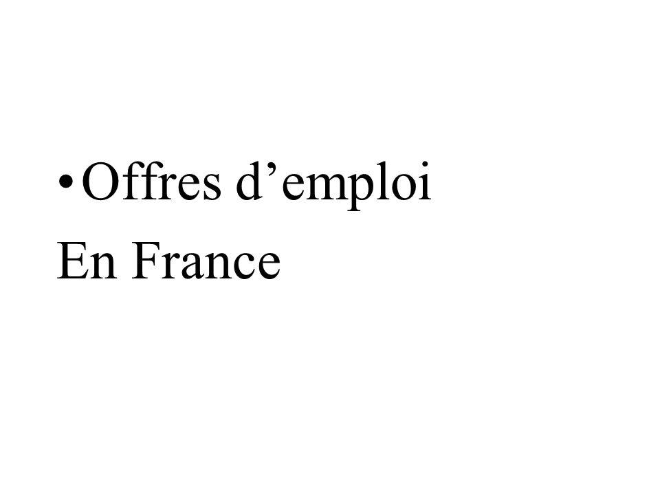 Offres demploi En France