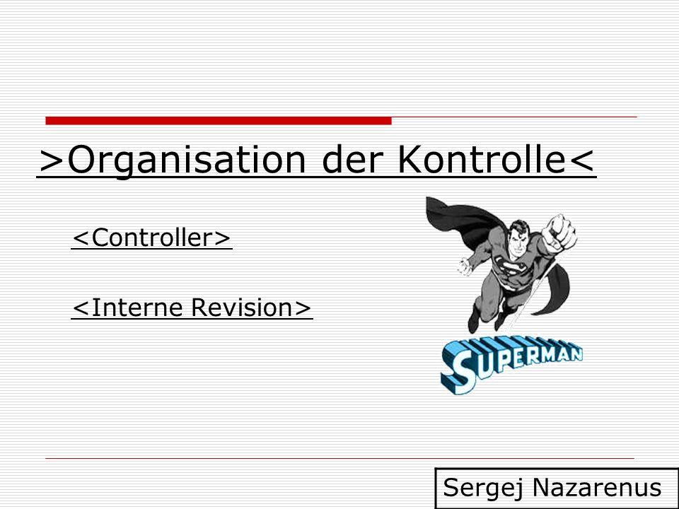 >Organisation der Kontrolle< Sergej Nazarenus