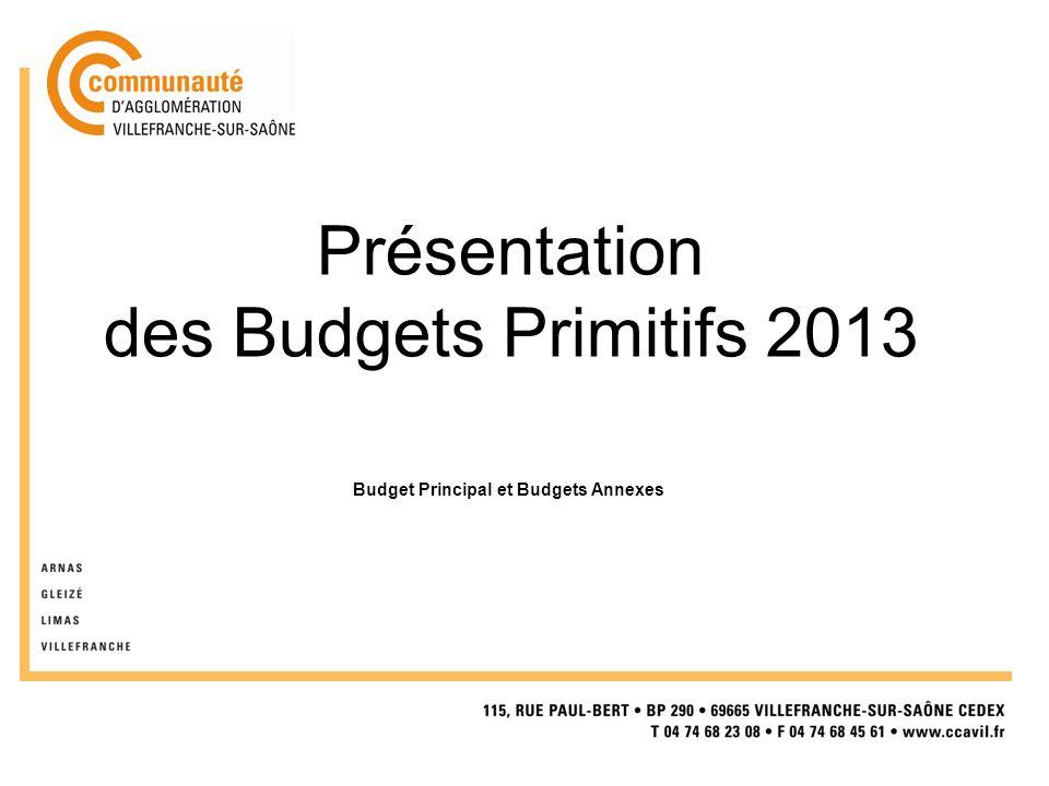 Présentation des Budgets Primitifs 2013 Budget Principal et Budgets Annexes