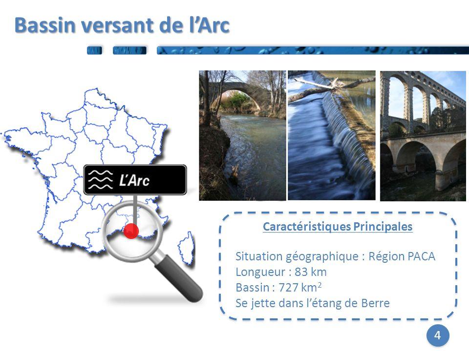 4 Caractéristiques Principales Situation géographique : Région PACA Longueur : 83 km Bassin : 727 km 2 Se jette dans létang de Berre