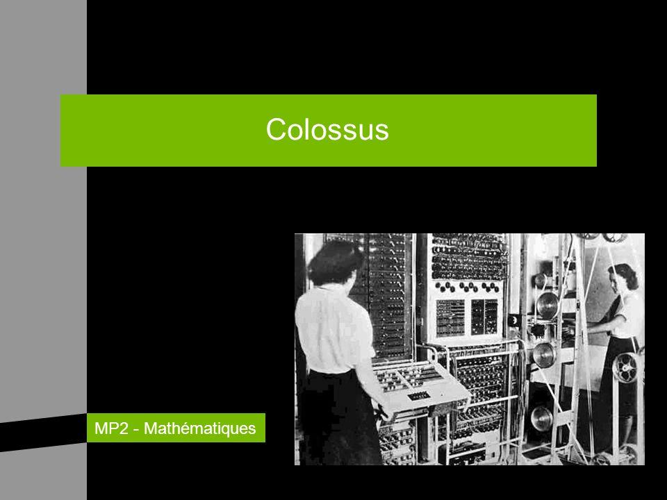Ordinateur britannique utilisé pendant la Seconde Guerre mondiale pour décoder les messages allemands.