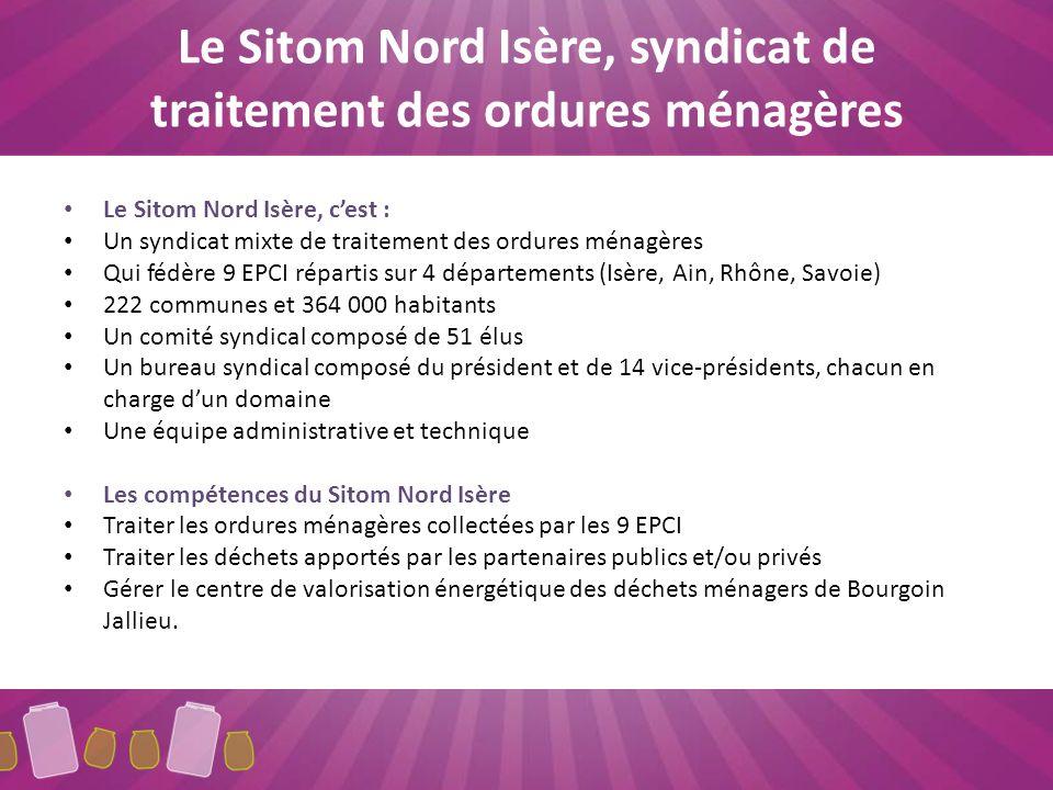 Périmètre daction du Sitom Nord Isère 8 communes