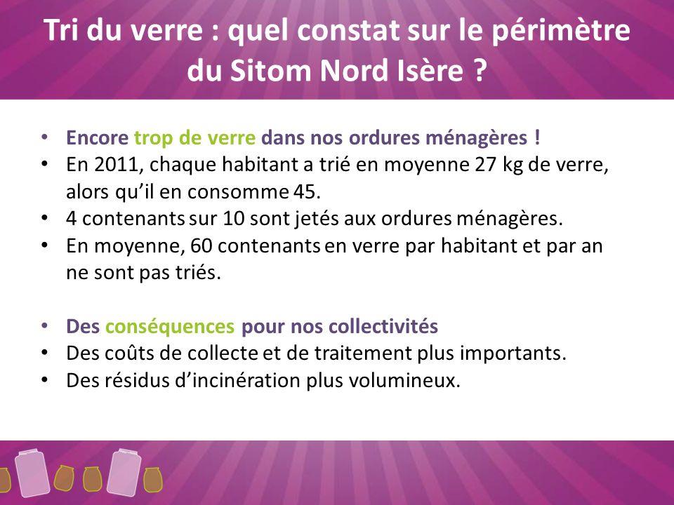 Tri du verre : quel constat sur le périmètre du Sitom Nord Isère .