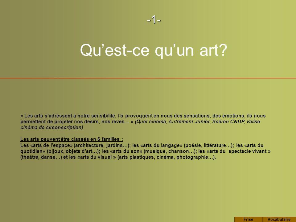 -1- -1- Quest-ce quun art.« Les arts sadressent à notre sensibilité.