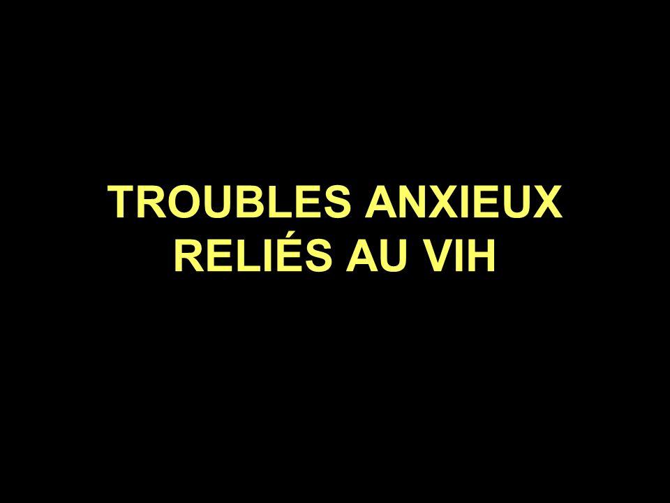 TROUBLES ANXIEUX RELIÉS AU VIH