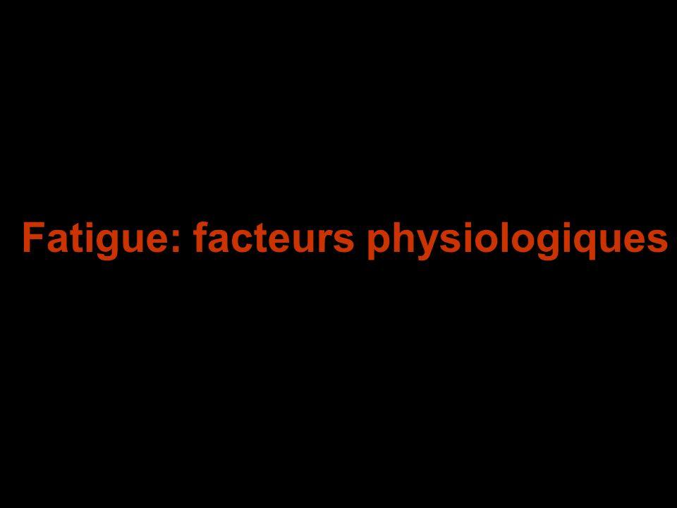 Fatigue: facteurs physiologiques
