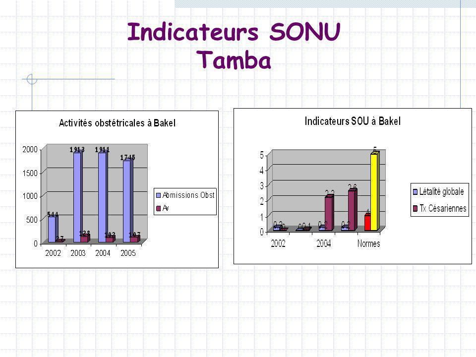 Indicateurs SONU Tamba