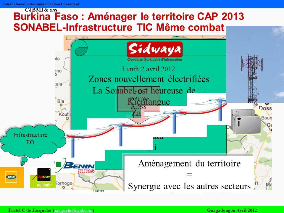 Fratel C de Jacquelot (jacquelot@aol.com)Ouagadougou Avril 2012jacquelot@aol.com International Telecommunication Consultant CJBMI & ass Burkina Faso :