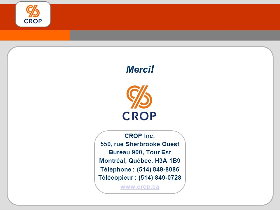Merci .CROP Inc.