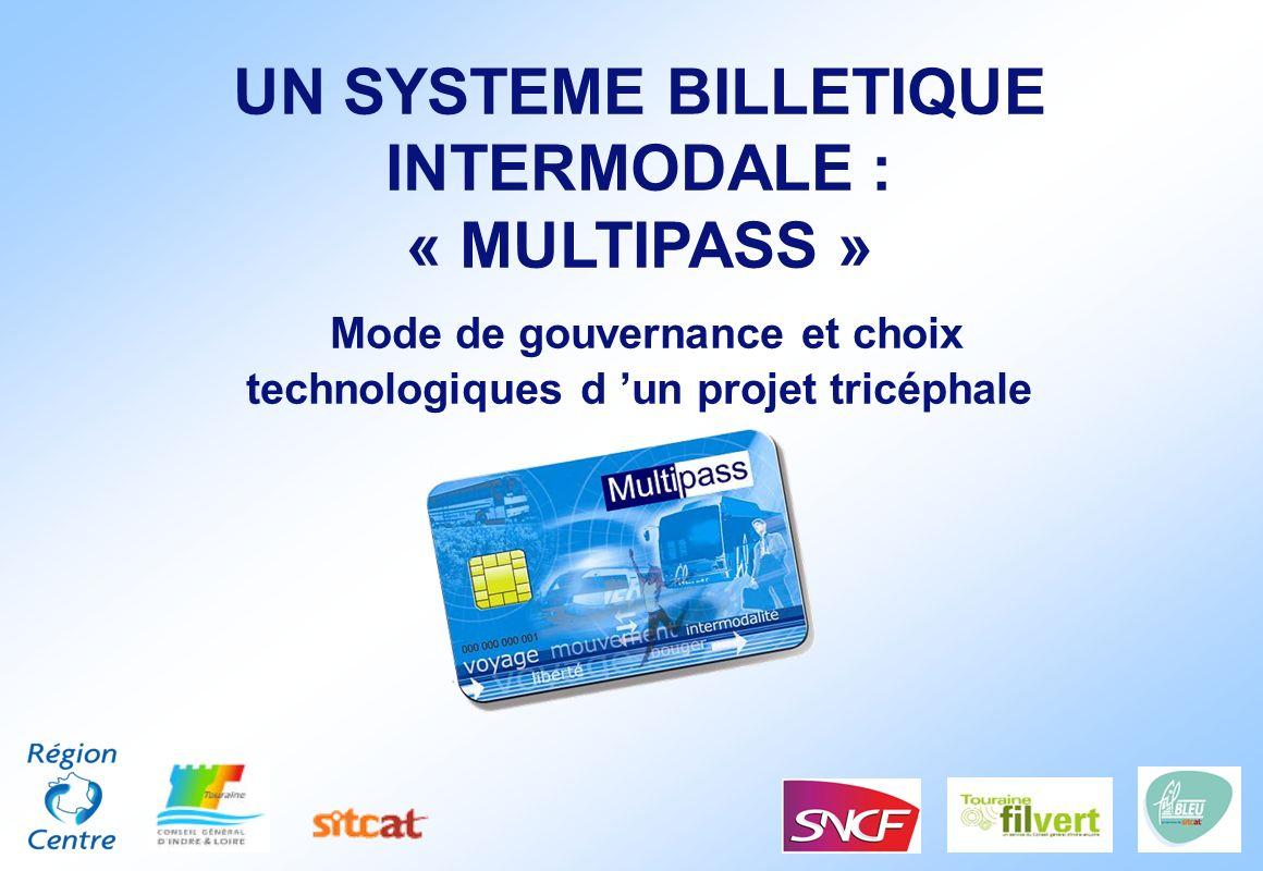 UN SYSTEME BILLETIQUE INTERMODALE : « MULTIPASS » Mode de gouvernance et choix technologiques d un projet tricéphale