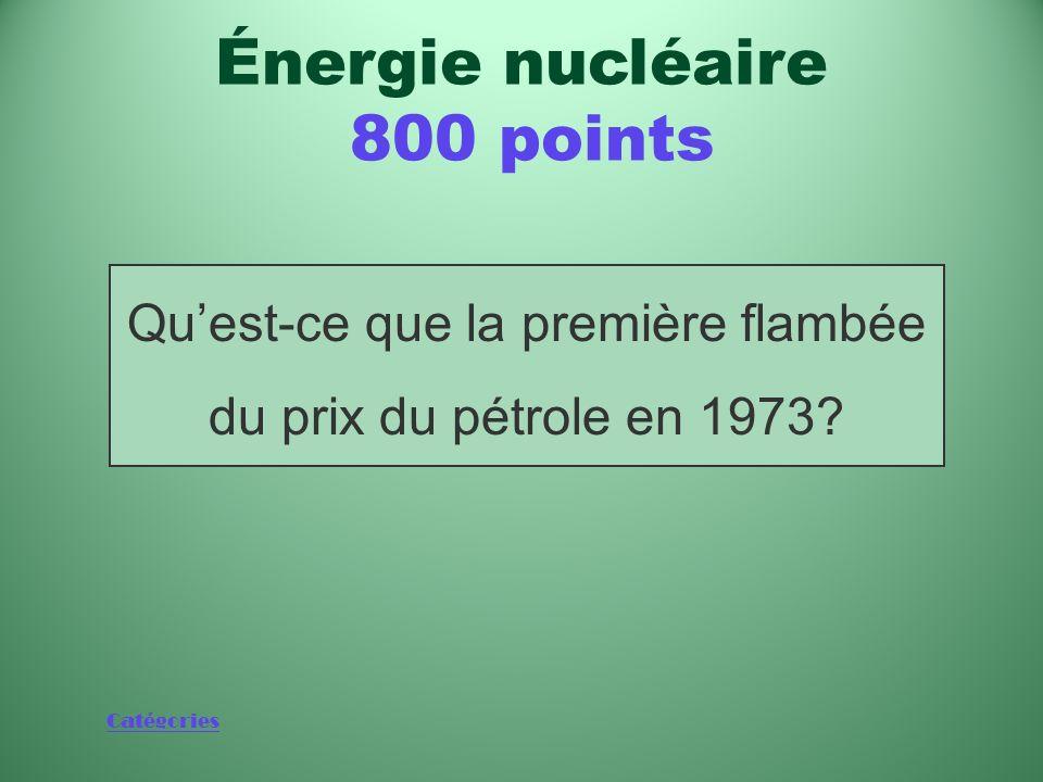 Catégories Événement après lequel le nucléaire est devenu une importante source dénergie Énergie nucléaire 800 points