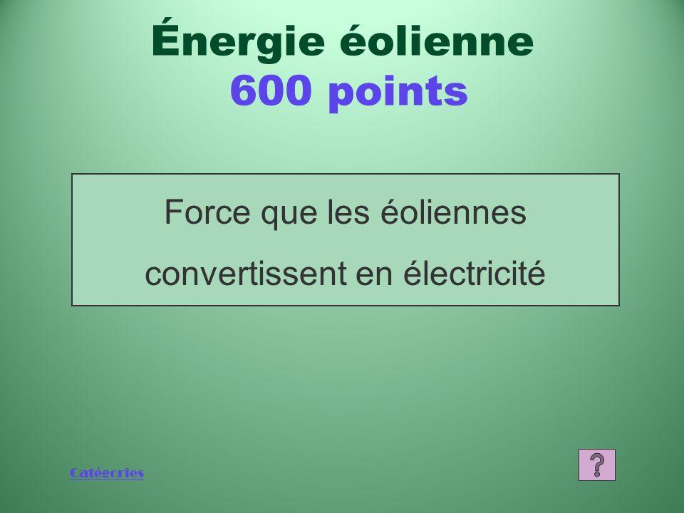 Catégories Que sont les aérogénérateurs Énergie éolienne 400 points