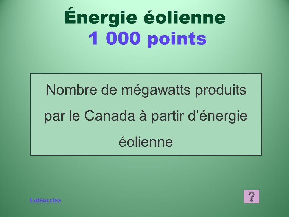 Catégories Quest-ce que lAllemagne? Énergie éolienne 800 points