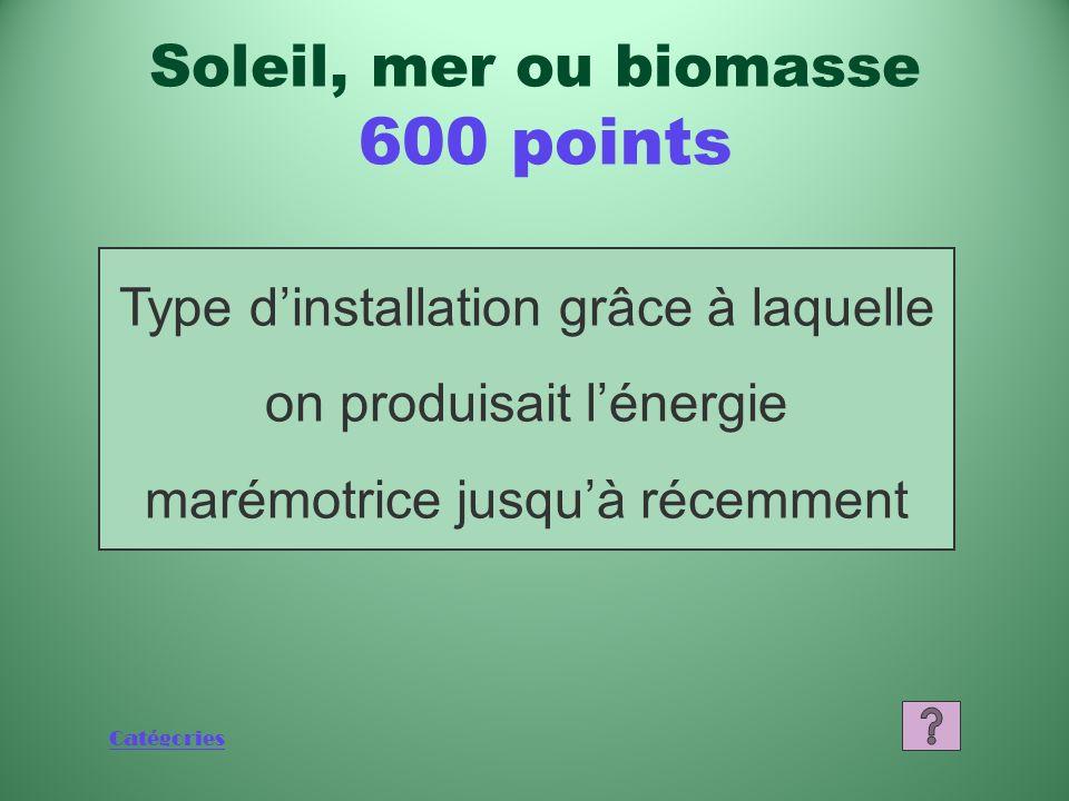 Catégories Quest-ce quune fourchette de 5 à 15 % Soleil, mer ou biomasse 400 points