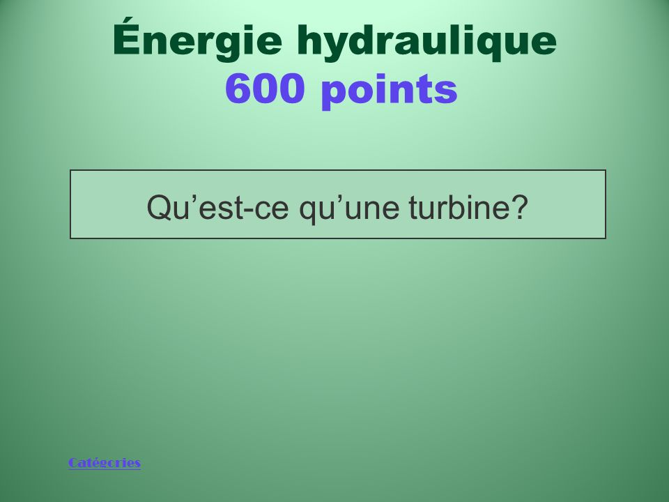 Catégories Quest-ce que lénergie mécanique du vent? Énergie éolienne 600 points