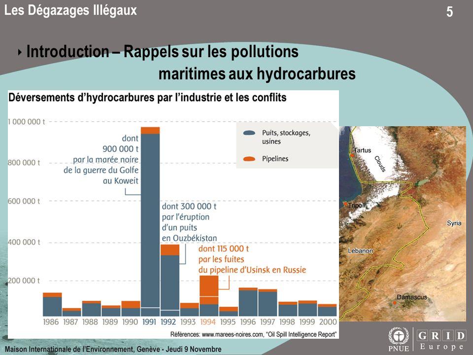 5 Centrale électrique de Jieh, Liban Introduction – Rappels sur les pollutions maritimes aux hydrocarbures Pollutions liées à des conflits Terminal pé