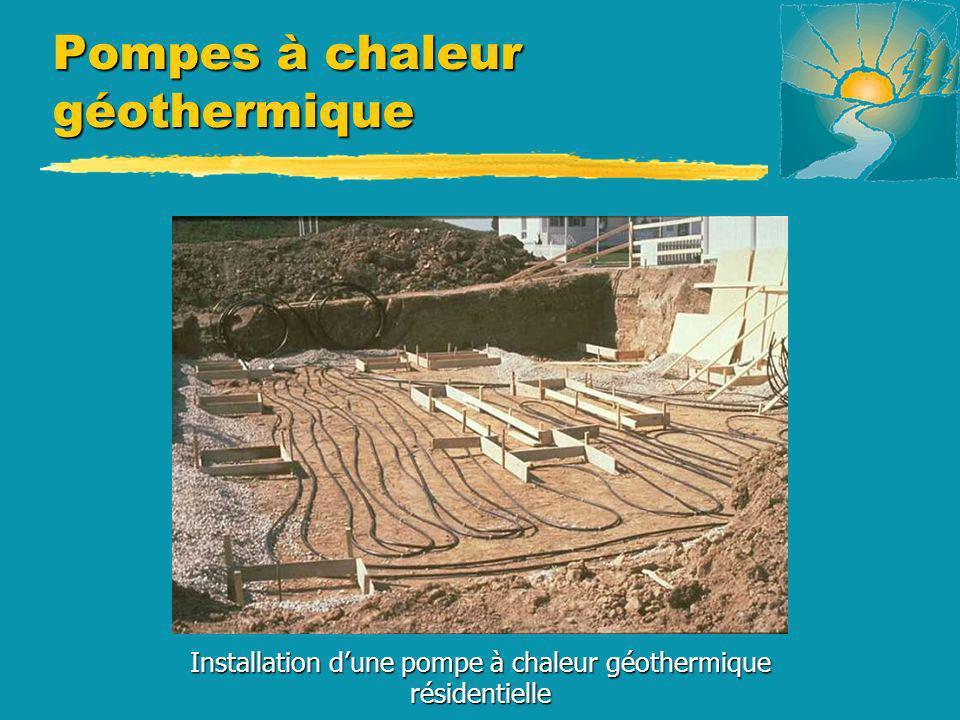 Pompes à chaleur géothermique Installation dune pompe à chaleur géothermique résidentielle