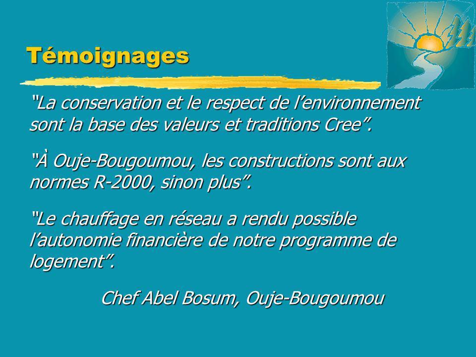 Témoignages La conservation et le respect de lenvironnement sont la base des valeurs et traditions Cree. La conservation et le respect de lenvironneme