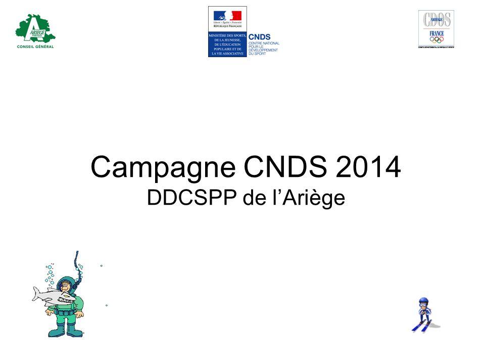 Campagne CNDS 2014 DDCSPP de lAriège