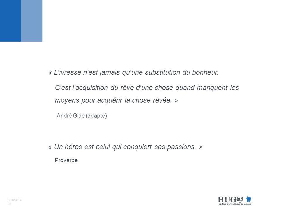 5/16/2014 23 « L ivresse n est jamais qu une substitution du bonheur.