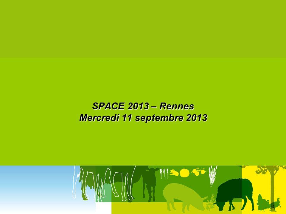 13 SPACE – Rennes 11 septembre 2013 laitiers Redistribution quotas laitiers