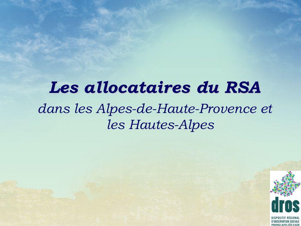 Les allocataires du RSA dans les Alpes-de-Haute-Provence et les Hautes-Alpes