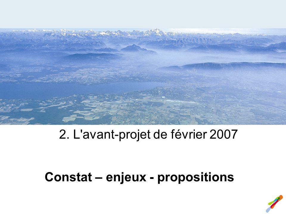 2. L avant-projet de février 2007 Constat – enjeux - propositions