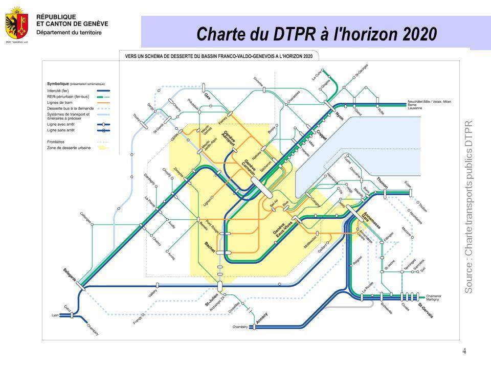 4 Charte du DTPR à l horizon 2020 Source : Charte transports publics DTPR
