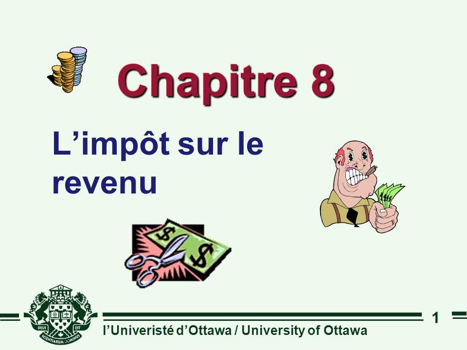 lUniveristé dOttawa / University of Ottawa 1 Chapitre 8 Limpôt sur le revenu