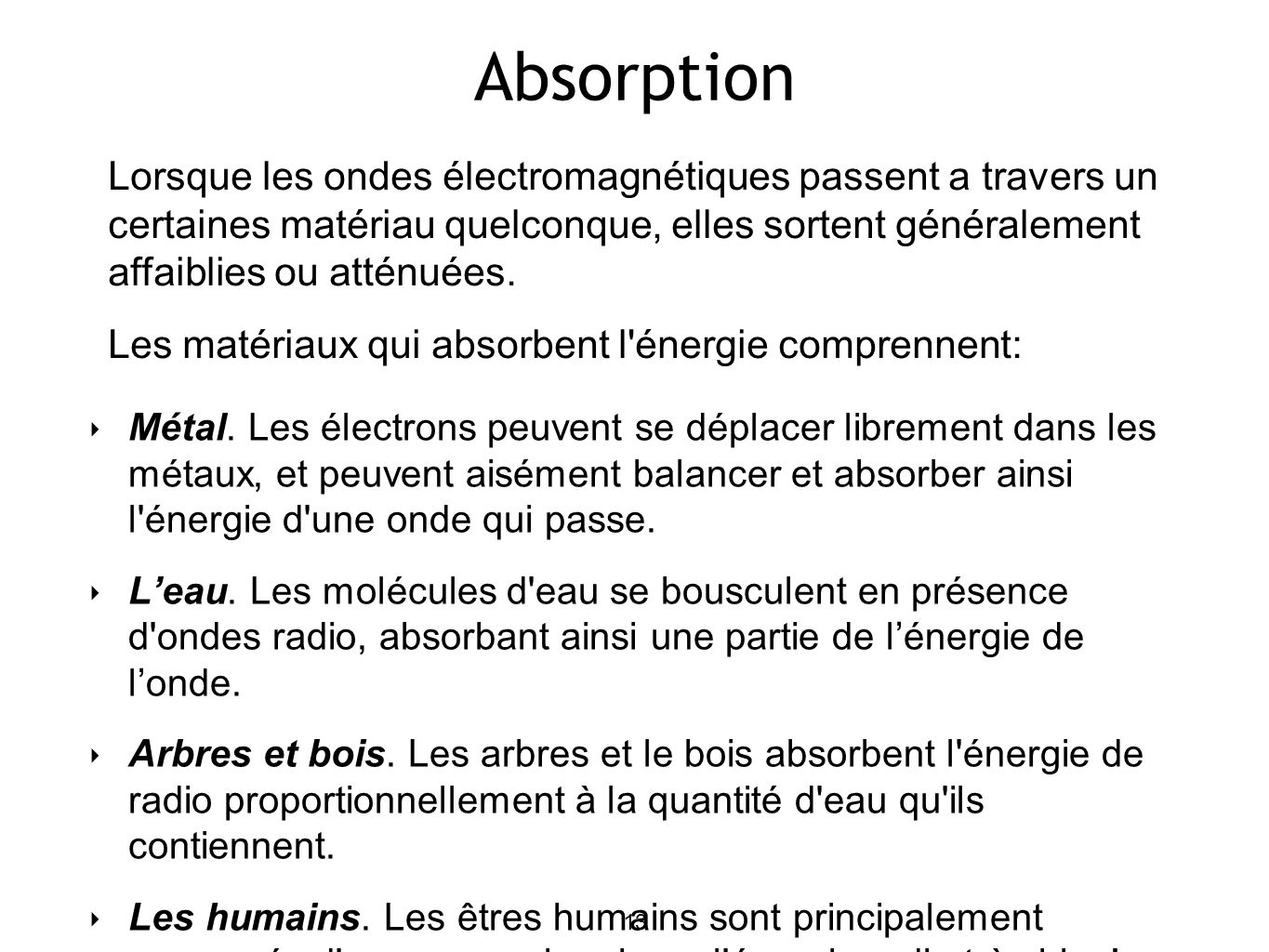 13 Absorption Métal.