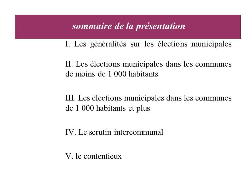 I. Les généralités sur les élections municipales II.