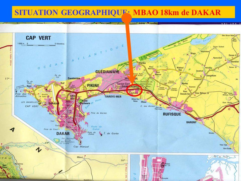 Marrakech 26/30 Avril 2004 Ministère de l Energie et des Mines du Sénégal5 SITUATION GEOGRAPHIQUE: MBAO 18km de DAKAR