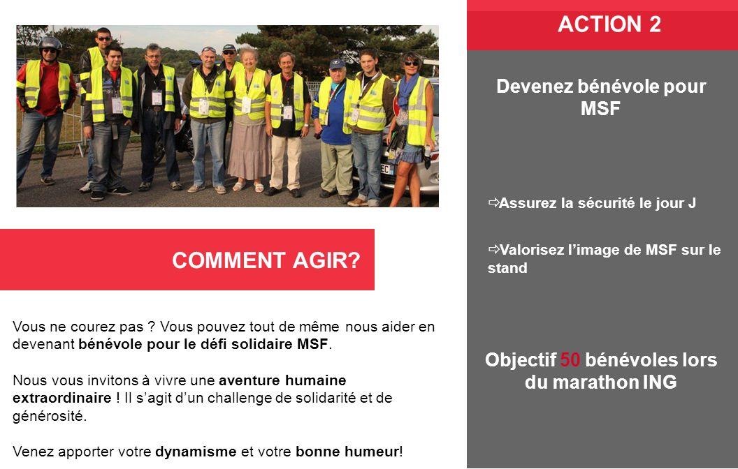 Vous ne courez pas ? Vous pouvez tout de même nous aider en devenant bénévole pour le défi solidaire MSF. Nous vous invitons à vivre une aventure huma