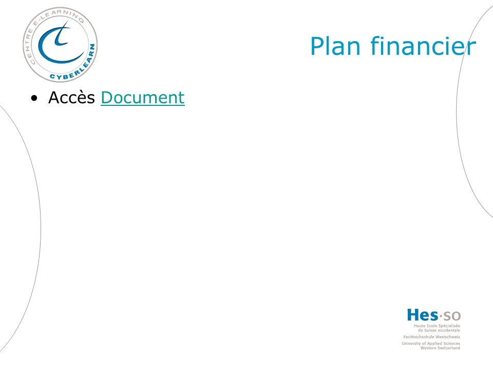 Plan financier Accès DocumentDocument