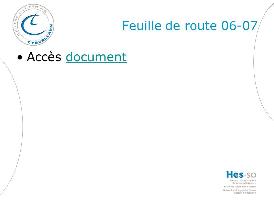 Feuille de route 06-07 Accès documentdocument