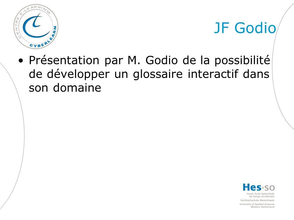 JF Godio Présentation par M.