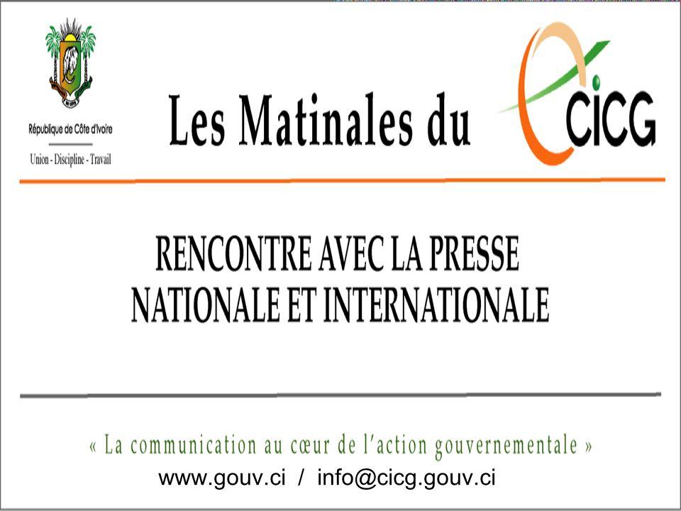 www.gouv.ci / info@cicg.gouv.ci